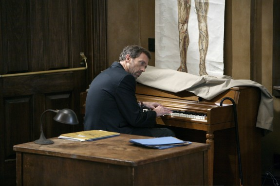 "HOUSE -- ""Games"" Episode 4009 -- Pictured: Hugh Laurie as Dr. Greg House -- NBC Photo: Adam Taylor"